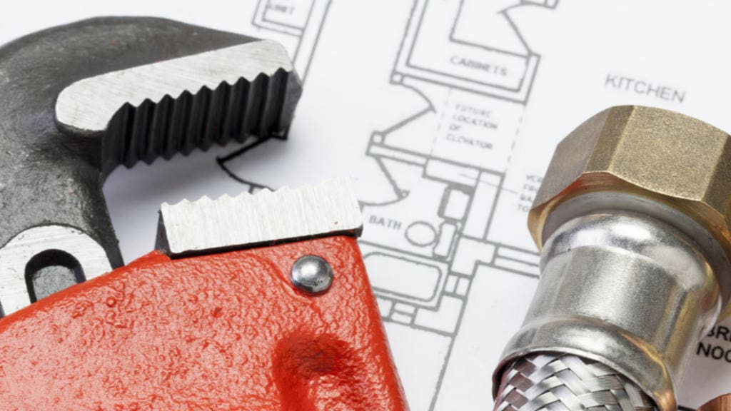 Commercial plumbing construction service.